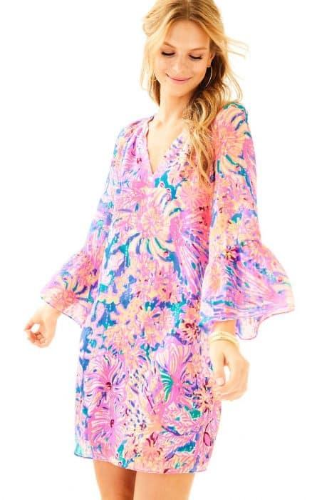 Elegan In Chiffon Floral Tunic Dress