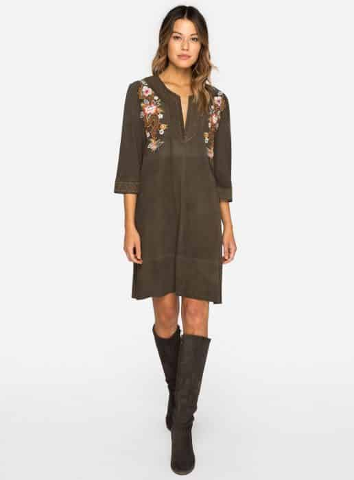 Embroider In Umber Tunic Dress