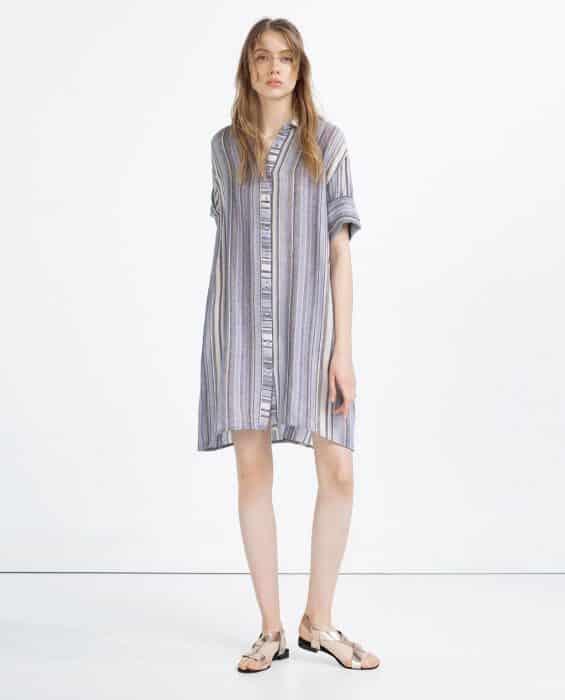 Line Jeans Motif In Tunic Dress