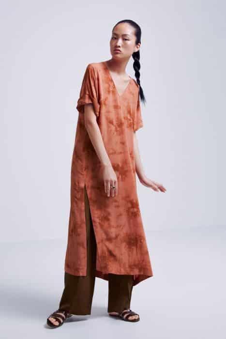 Long Dress Tunik Fire Brick