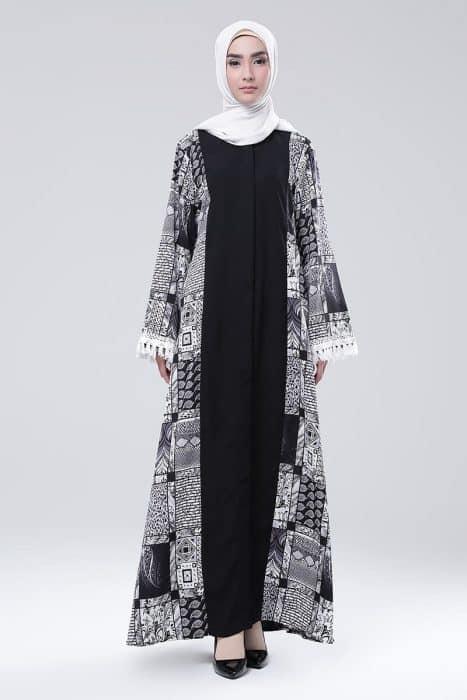 Model Baju Muslim Cardingan Panjang