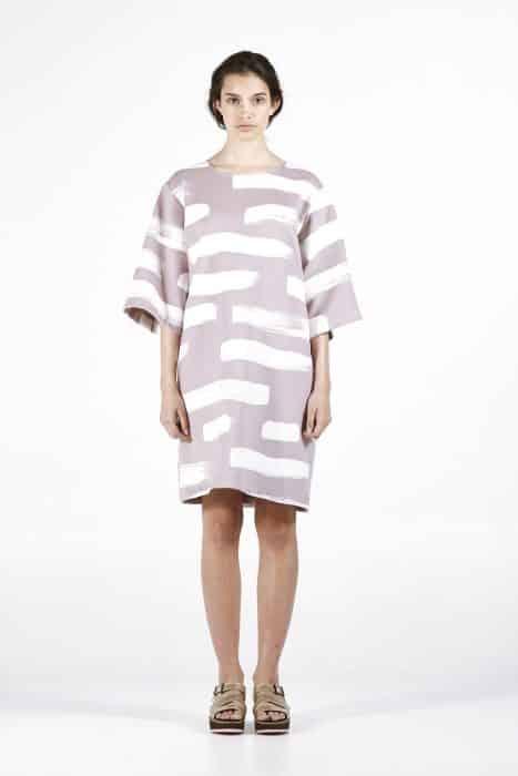 Model Baju Tunik Big Horizontal Line