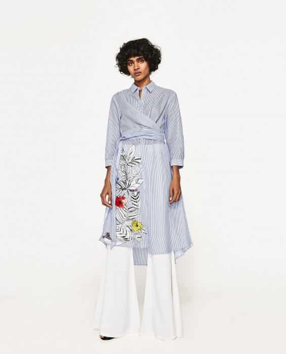 Model Baju Tunik Embroider Belt