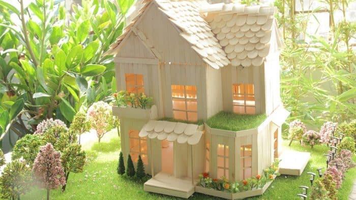 Desain Rumah Mewah dari Stik