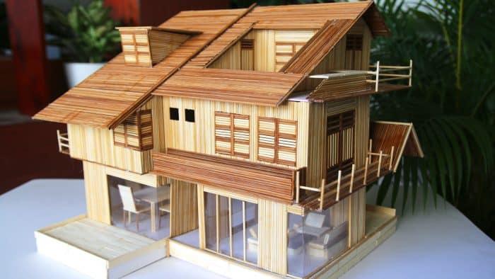 Contoh Rumah Kaca dari Stik Es Krim