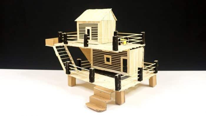 Desain Rumah Unik dari Stik