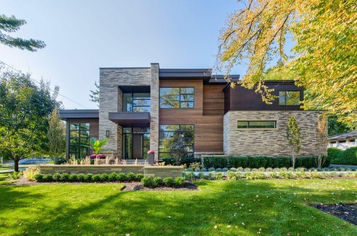 Desain Rumah Kayu Hutan Mewah