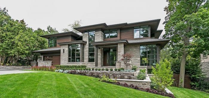 Desain Rumah Mewah Modern Dengan Rerumputan