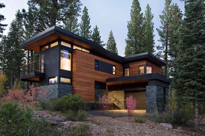 Desain Rumah Impian Kayu Kombinasi Bata