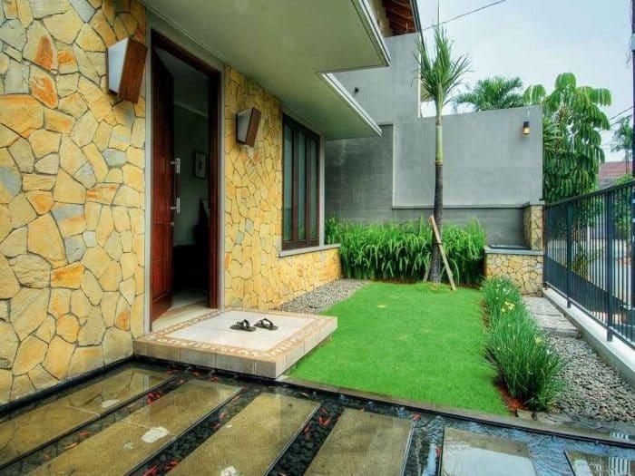 Contoh Desain Rumah Batu Alam Palimanan