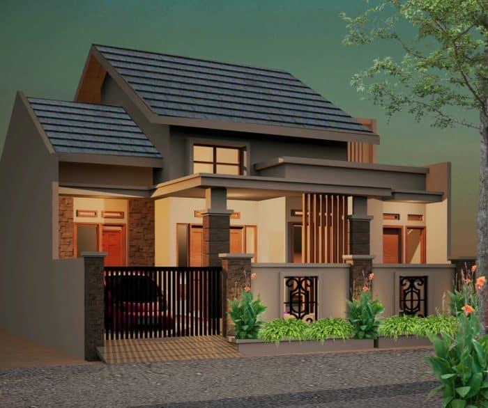 Contoh Desain Rumah Batu Alam Tahan Cuaca