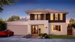 contoh desain rumah bertingkat sederhana dan elegan