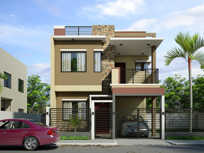 Contoh Desain Rumah Lantai Dua Dengan Rooftop Thegorbalsla