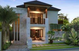 contoh desain rumah tingkat klasik khas indonesia
