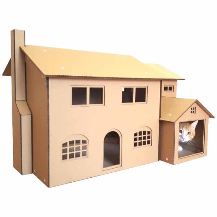Contoh Desain Rumah dari Kardus untuk Kucing