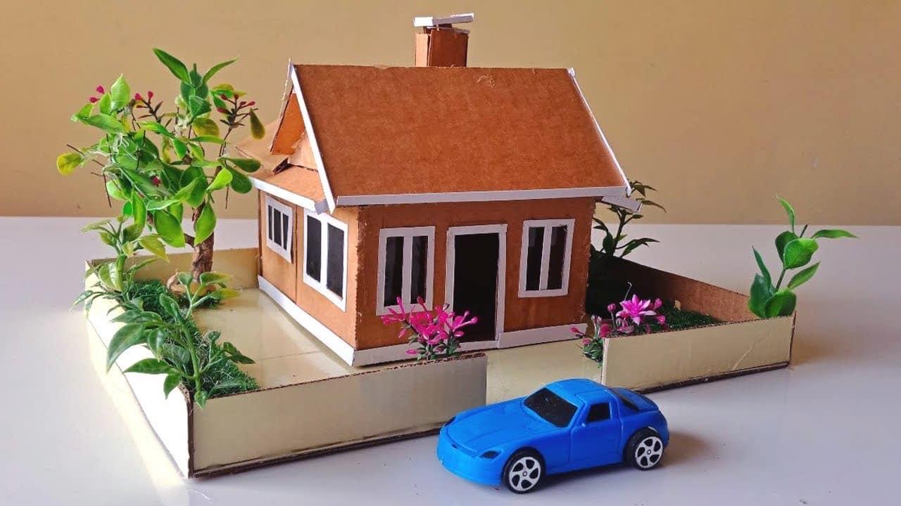 45 Contoh Desain Rumah Dari Kardus Yang Bisa Dibuat Di