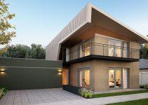 contoh desain rumah dua lantai