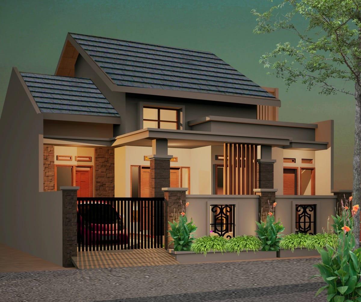 Desain Eksterior Rumah Bata Merah Kecil Thegorbalsla