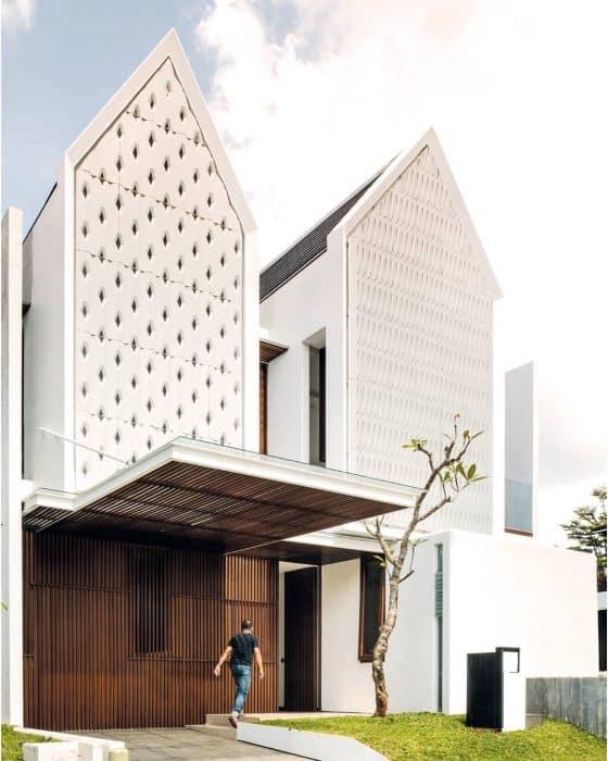 Desain Kontrakan Bentuk Atap Segitiga
