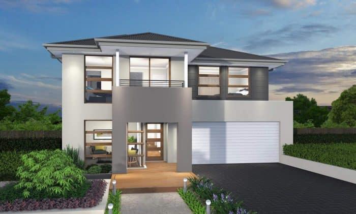 Desain Rumah Elegan Warna Putih Abu