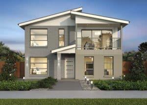 desain rumah lantai dua dengan banyak jendela - thegorbalsla