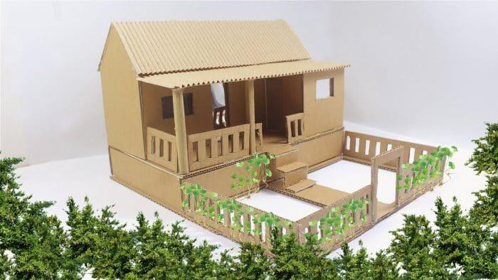 Desain Rumah Tradisional dari Kardus