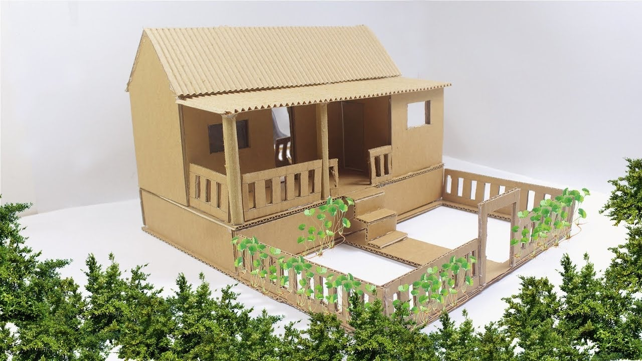 Desain Rumah Tradisional Dari Kardus Thegorbalsla