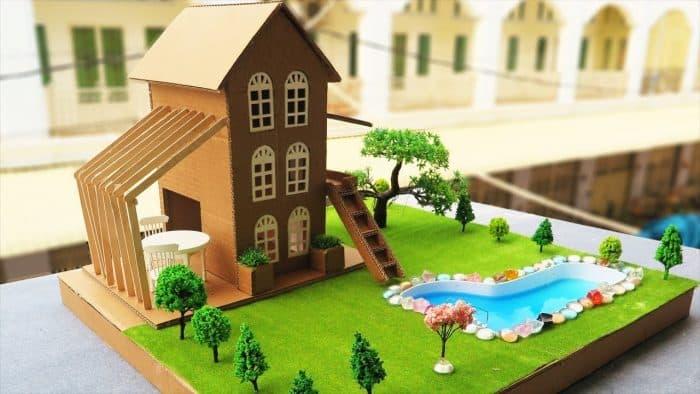 Desain Rumah dari Kardus Modern