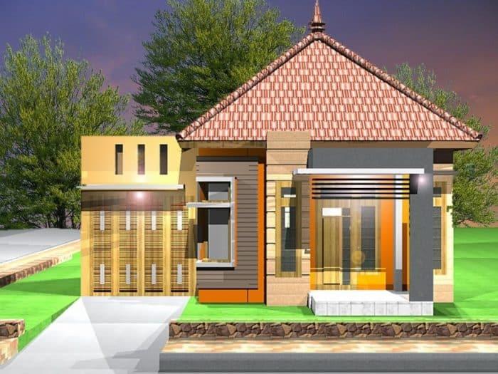 Desain rumah klasik garasi samping tertutup