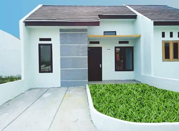 Desain rumah minimalis dengan halaman hijau