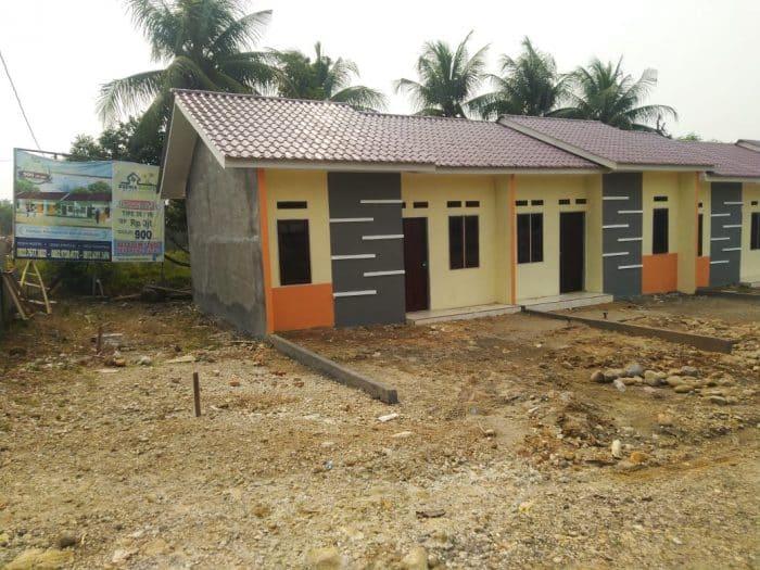 Desain rumah sederhana di tengah perkampungan