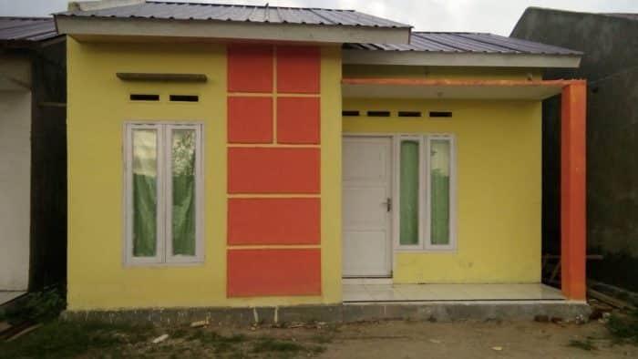 Desain rumah terlihat ceria untuk pasangan baru