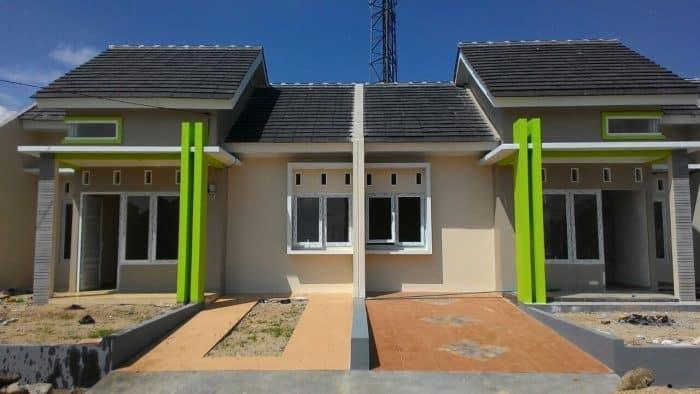 Desain rumah terlihat menyambung