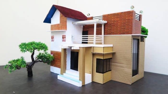Inspirasi Rumah dari Kardus dengan Atap Terbuka