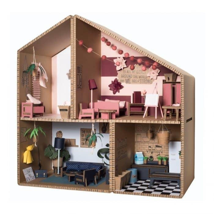 Mainan Rumah dari Kardus untuk Barbie