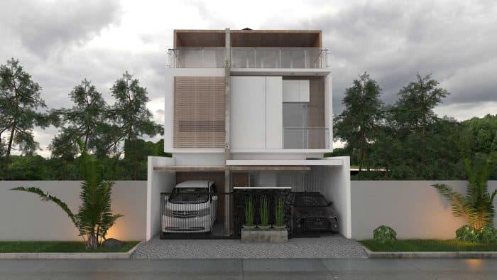 Rumah Industrial Lantai 3 Elegan