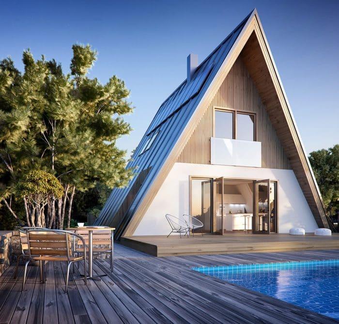 Contoh Desain Rumah Dari Kayu Unik Dan Kekinian Terbaru Thegorbalsla