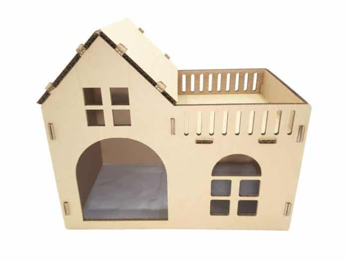 Rumah Kucing Mini dari Kardus Bekas