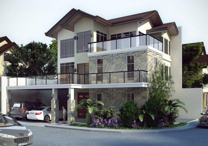Rumah Motif Batu Alam