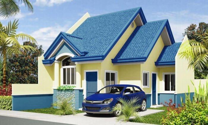 Rumah bergaya modern dengan garasi minimalis