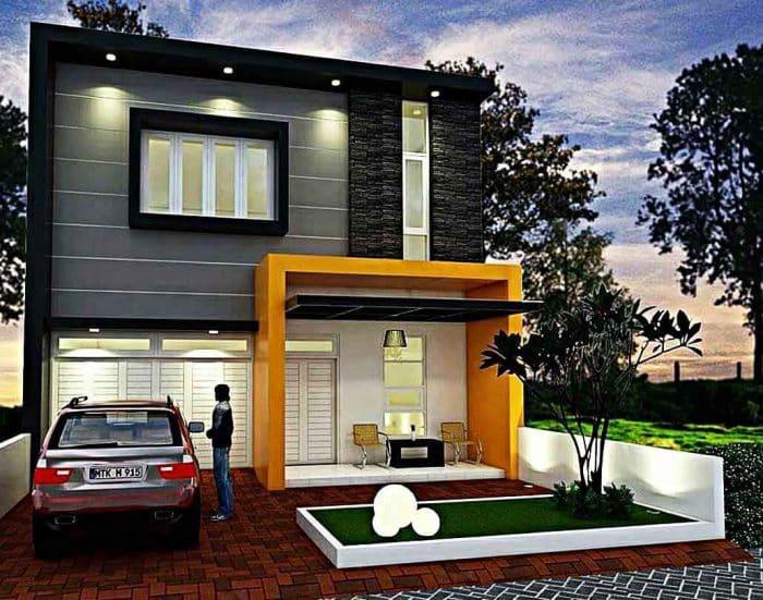 Rumah bergaya modern luas