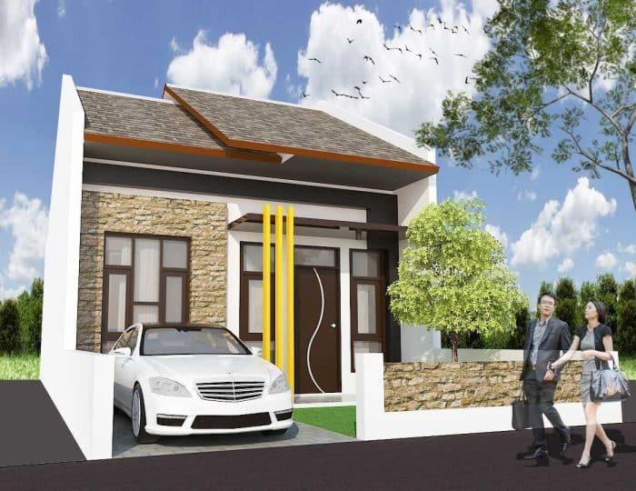Rumah desain minimalis modern dua lantai