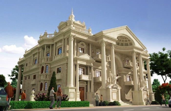 Rumah mewah desain kerajaan klasik