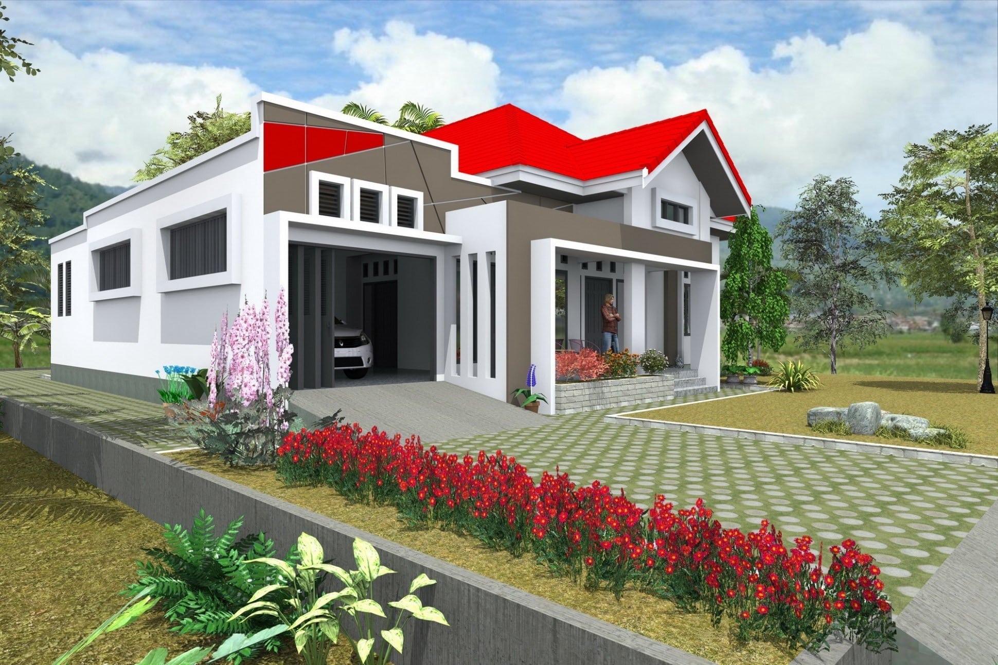 Rumah Mewah Pedesaan Garasi Tertutup Thegorbalsla