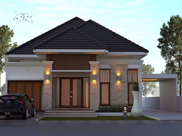 43 Contoh Desain Rumah Garasi Samping (Modern Dan Minimalis)