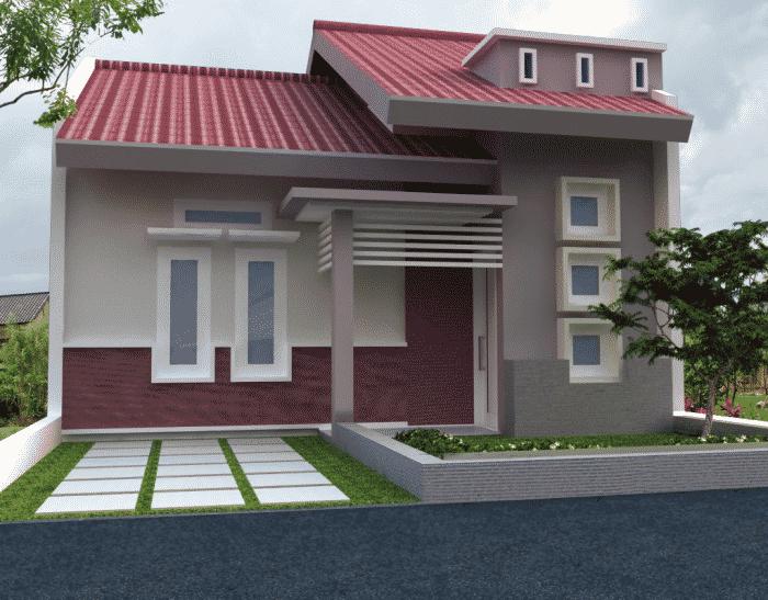 Rumah minimalis garasi open air