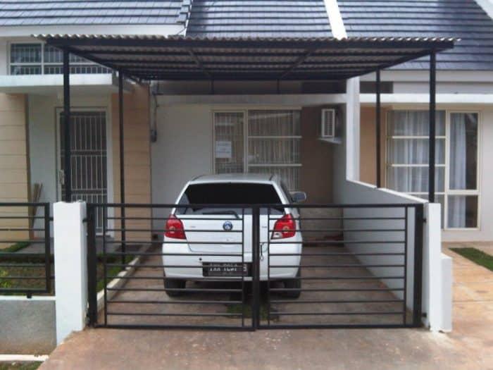 Rumah minimalis garasi sederhana