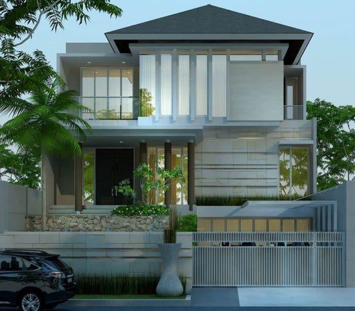 Rumah minimalis open garage