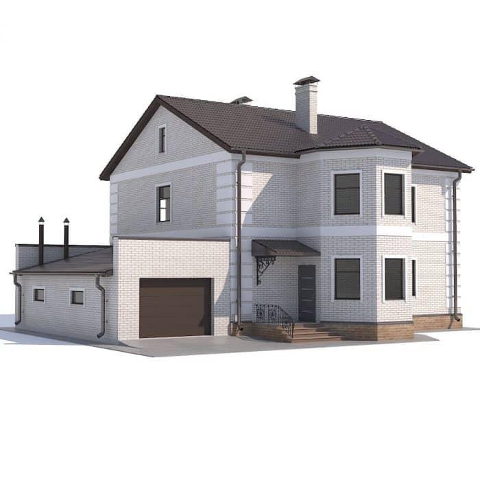 Rumah modern minimalis in white and half glass