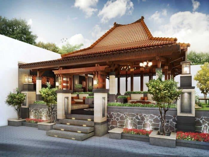 Model Teras Rumah Joglo Sederhana  teras joglo minimalis terbaru 2020 rumah minimalis modern